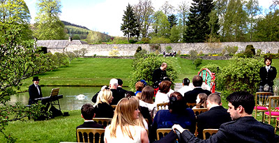 ceremony in the walled garden Blair Castle